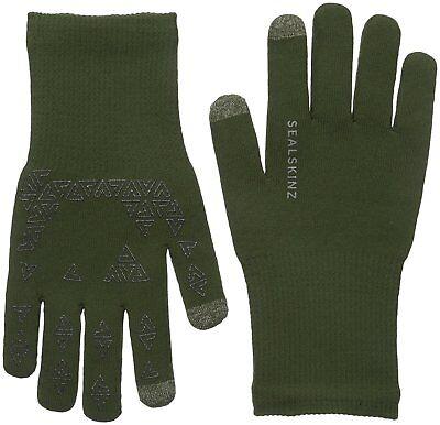 Sealskinz Ultra Grip Guanti-completamente Impermeabile, Antivento & Traspirante-verde- Scelta Materiali