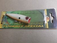 Custom Painted Bass Pro Shops Tourney Special Pop N Splash Popper,bone Ob