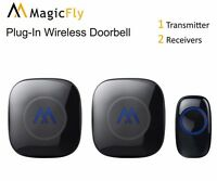 Wireless Doorbell Kit Portable Long Range Alarm Chimes Plug Battery 52 Tones