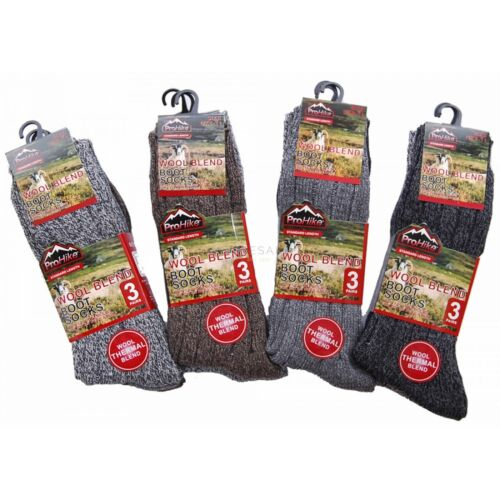 6 Pairs Mens Lambs Wool Socks Thermal Merino Winter Warm Hiking Work Boot UK6-11
