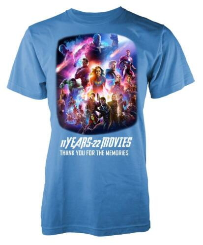 Marvellous Avengers 11 Years 22 Movies Thanks For The Memories Kids T Shirt