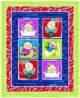 Fabri-quilt Baby Blocks Quilt Top 100% Cotton 42 Fabric By The Panel 35.5