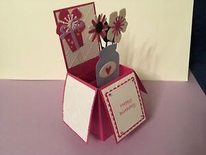 Fabulous Handmade Card Happy Birthday Personalised Flowers In A Jar Pop Up Funny Birthday Cards Online Alyptdamsfinfo