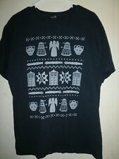 doctor ugly christmas sweater T-Shirt Who POLICE BOX Large