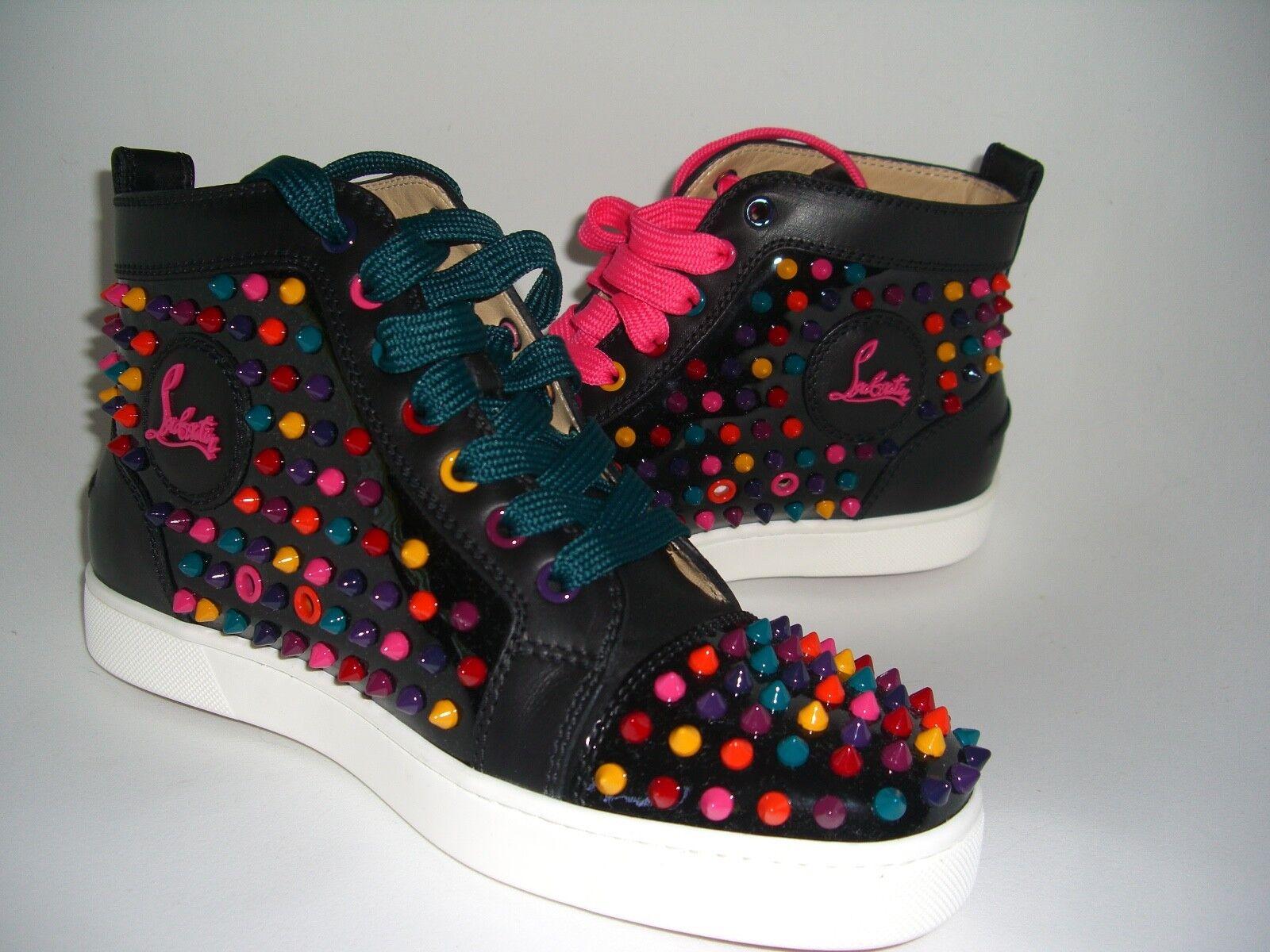 Scarpe casual da uomo  NIB Christian Louboutin wouomos flat patent calf spikes sneaker 39 Sold Out