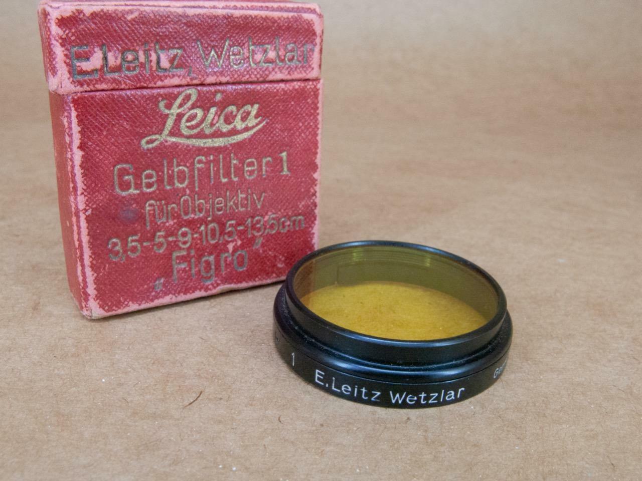 Leitz Leica Black FIGRO / 13005 A36 No1 Light Yellow Filter - boxed