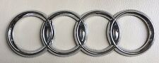 AUDI FOUR RINGS BADGE REAR BOOT TRUNK CHROME BADGE for A3 A4 A5 A6 A4 TDI S LINE