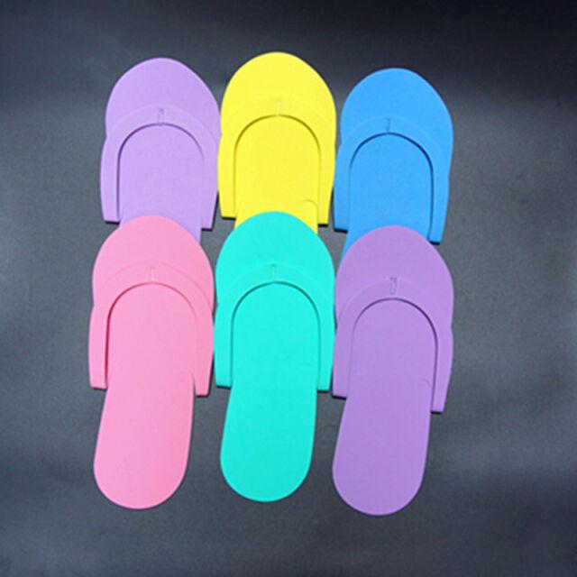 0e732377371c 12 Pairs Pedicure Disposable Slippers Foam Flip Flop Spa Salon Foot Flops  Nail