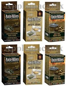 Axis-amp-Allies-Miniatures-6-Booster-Packs-Early-War-Counteroffensive-North-Africa