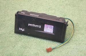 Intel Pentium II MMX 266 MHz SL2HE 266/512/100 slot 1 CPU + radiateur + ventilateur