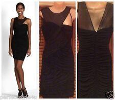 BCBG Max Azria Rosalyn Shirred Dress Sz M Acj6l976 Black