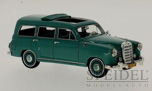 Wonderful modelvoiture MERCEDES 180 (W120) BINZ WAGON 1954 - vert  - scale 1 43  pas cher et de la mode