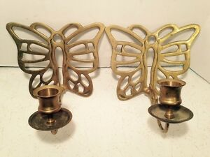 Brass-Butterfly-Sconce-Candle-Holder-Wall-Home-Decor-Lighting