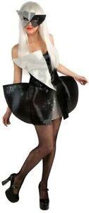 Lady-Gaga-Black-Sequin-Dress-Teen-Costume-Small