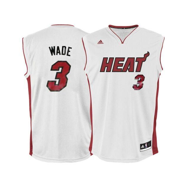 size 40 14c60 f6a70 Dwyane Wade NBA Adidas Men's Miami Heat Home White Replica Jersey