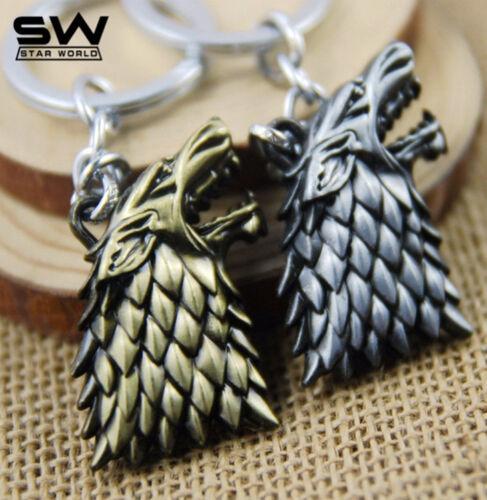Llavero Keyrings cabeza de Lobo Huargo Juego de Tronos Game of Thrones