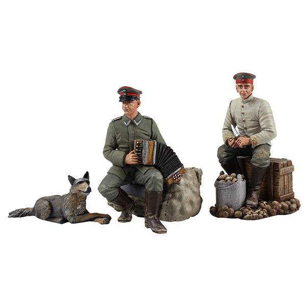 W. Britain 23106 -  Music to Peel By  - 1914-18 German Infantry - 4 Piece Set