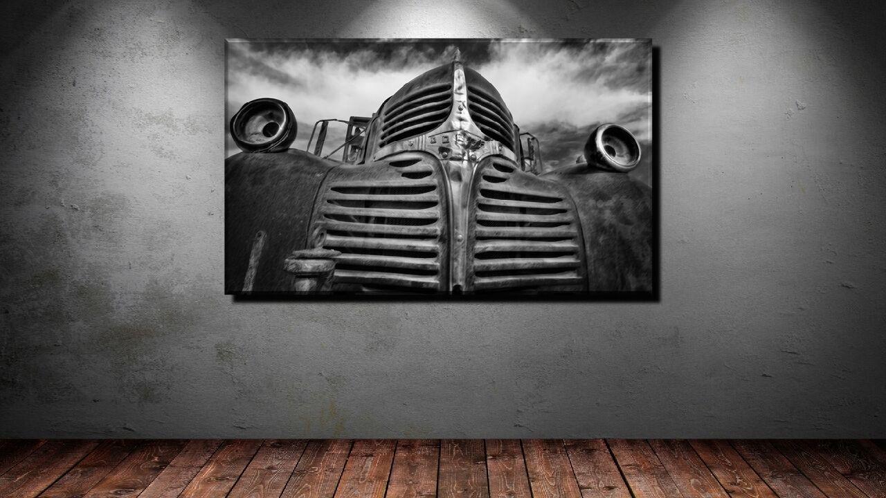 POSTER BILD BILD BILD XXL POP ART DODGE AUTO OLDTIMER S W FRONT ABSTRAKT BIS 150x90 0dd0e4