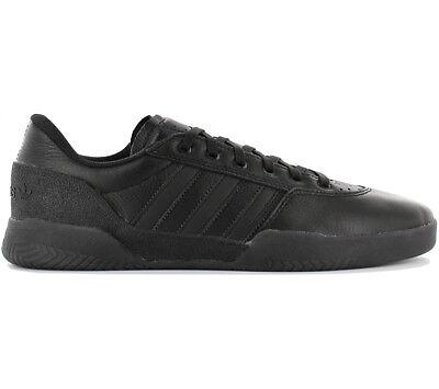 Adidas Originals City Cup Leather Sneaker Herren Skaterschuhe Schwarz Cg5636 Neu