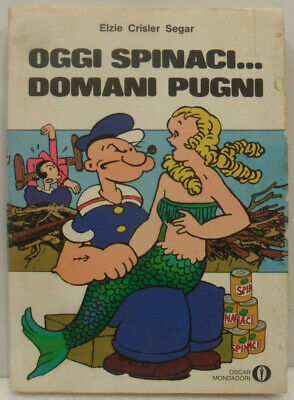 """Braccio Di Ferro """"oggi Spinaci Domani Pugni"""" Oscar Mondatori 1974 Buono Vivo Y Grande En Estilo"""
