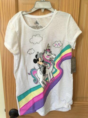 NWT Disney Store Minnie Mouse Unicorn Girls T Shirt Tee Top White 10//12,14