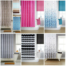 Waterline Printed Shower Curtain Including 12 Matching Rings - 9 Great Colours