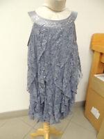 Biscotti Size 4 Gladiator Sequin Lace Designer Girls Gray Silver Dress
