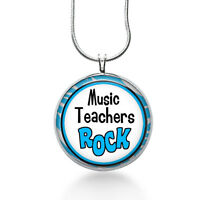 Music Teacher Necklace- Teacher,music Teachers Gift,gifts For Teacher,music Gift