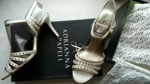 110 £ New Vonia Rrp Adrianna Uk4 5 Sandals Scarpe Heels Metallic Authentic Papell qBgqH71