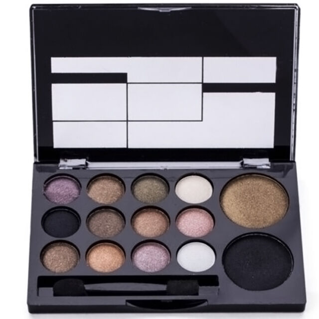 New Smoky Eye Shadow Palette Glitter Shimmer Neutral Nude Warm Makeup *14 Colors