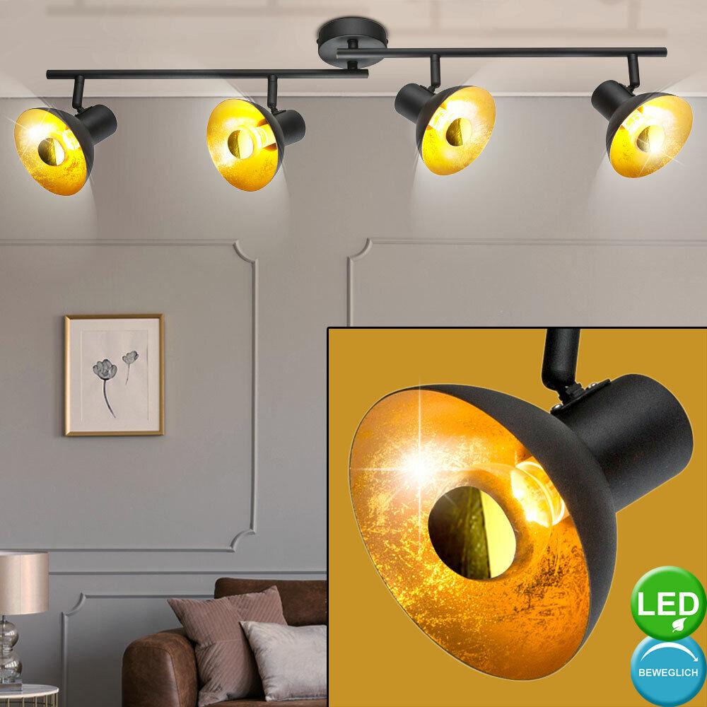 Rétro luminaire LED plafonnier salon lampe spot bar réglable schwarz or éclairage