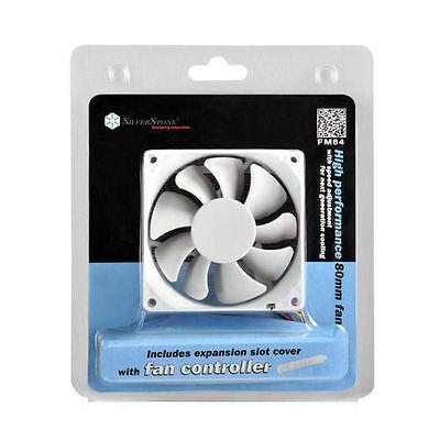 PWM 4Pin Silverstone FW81 80mm x 80mm x 25mm Mixed fan blade design PWM Fan
