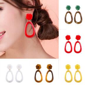 Fashion-Women-Ear-geometric-Acrylic-Resin-Drop-Dangle-Stud-Earrings-Jewelry-Gift
