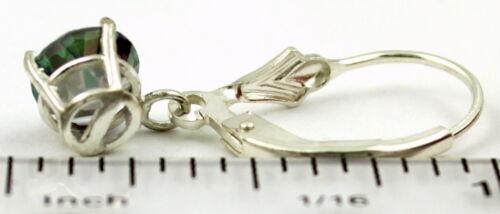 6 Mm Mystic Fire Topaz Sterling silver leverback Boucles d/'oreilles-fait main SE017