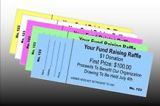 3,000 Custom Printed Raffle Tickets Perfed & Numbered - BONUS 200 FREE TICKETS