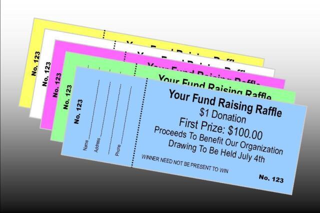 3000 custom printed raffle tickets perfed numbered bonus 200 free tickets