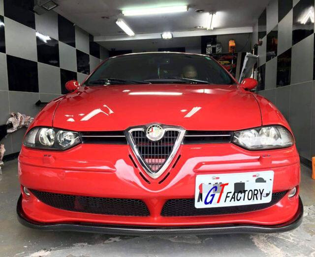 Valance Front  Bumper Add On Chin Lip Spoiler For Alfa Romeo 156