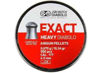 JSB MATCH DIABOLO S100 4.52 mm .177 500 pcs heavy Air rifle Pellets AIR GUN