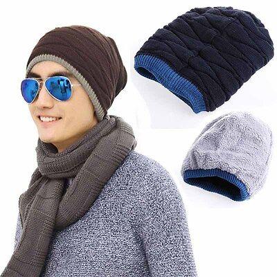 Herren Damen Hut Strickmütze Beanie Wintermütze Baggy Slouch Mütze  Hiphop