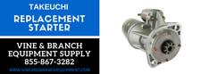 Premium Replacement Tl150 Takeuchi Starter A