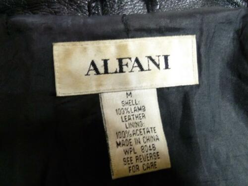 Women Læder Jacket Genuine Long Fit Brugt Lamb Soft Alfani Zip M Sort Up F6qAdw7xZn