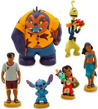 LILO AND STITCH 6 Figure Set DISNEY PVC TOY Cake Topper NANI David PLEAKLY Jumba