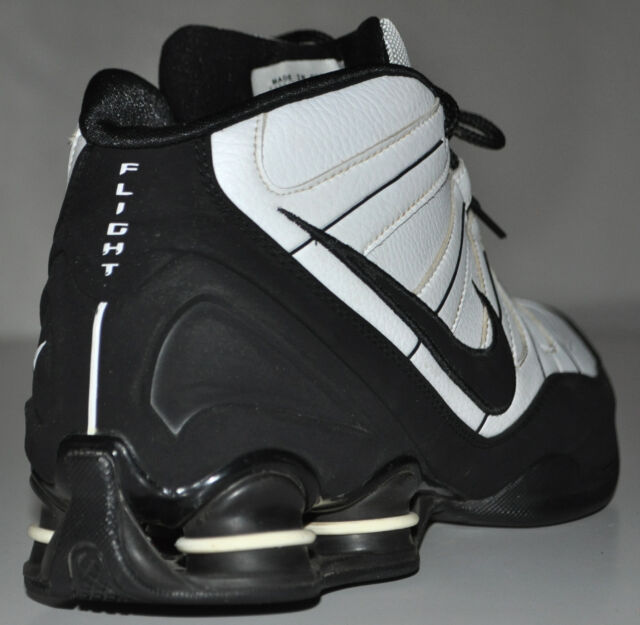 63c51c26582 Nike Shox High-top Black   White Flight 2008 Basketball Shoes 333491-101  Size 12 for sale online