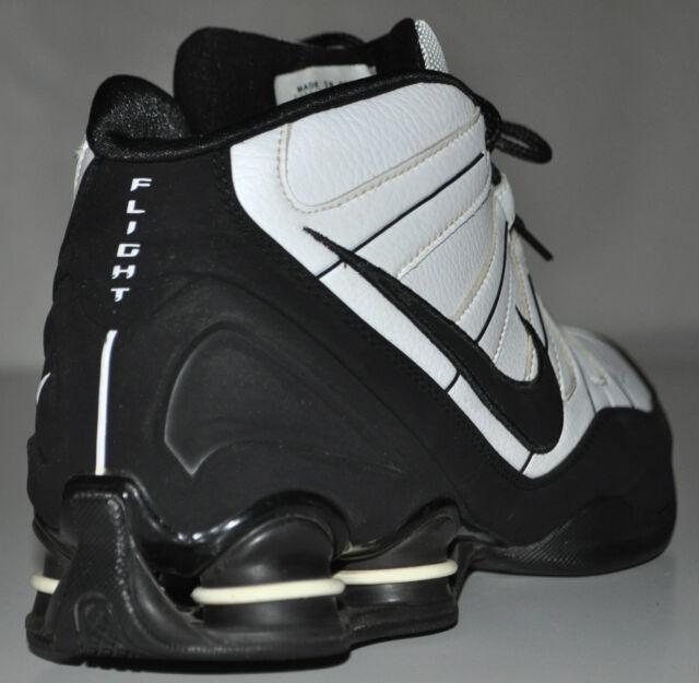 sale retailer 4f73b d4ecf Nike Shox High-top Black   White Flight 2008 Basketball Shoes 333491-101  Size 12 for sale online   eBay