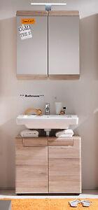 Das Bild Wird Geladen Badmoebel Set Badezimmer Moebel Eiche Hell  Unterschrank Und