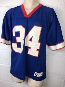 Details about Vintage Logo 7 NFL Buffalo Bills THURMAN THOMAS Throwback Jersey Large USA Made