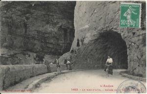 Cpa L'Ariège - Le mas d'Azil - entrée de la grotte en amont