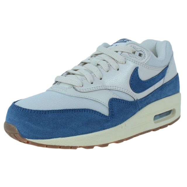 a07553a9fd5 Nike Womens Air Max 1 Essential SNEAKERS Light Bone Brigade Blue Sail  599820 019 for sale online