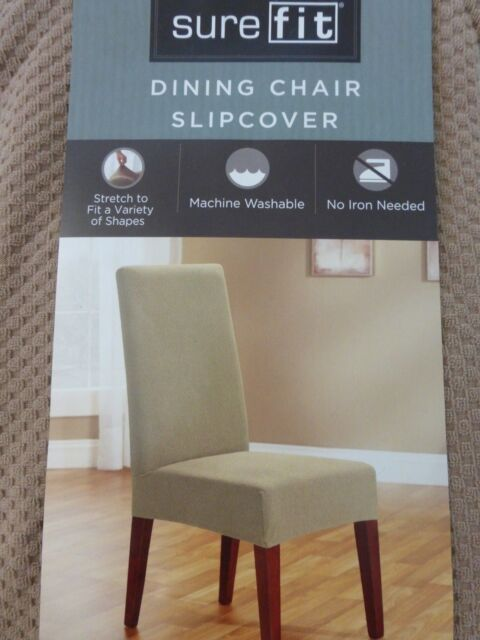 Marvelous Sure Fit Stretch Dining Chair Slipcover Beach House Tan 15288 Uwap Interior Chair Design Uwaporg