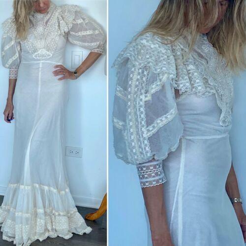 Antique Wedding Dress  - Edwardian Dress - Edwardi